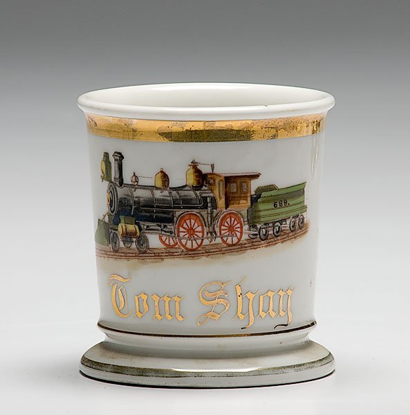 23: Railroad Engineer's Occupational Shaving Mug,
