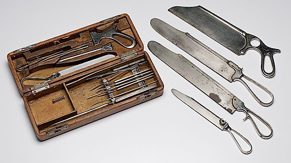 287: Shepard & Dudley Amputation Kit, PLUS Four Saws,