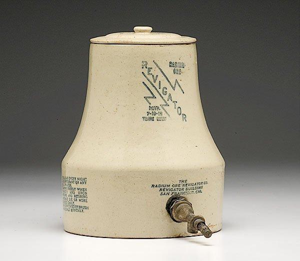 422: Radium Ore Revigator Stoneware Water Cooler,