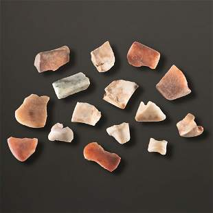 A Group of Quartz Bannerstone Fragments, Largest 1-5/8