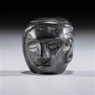 A Woodland Hematite Human Effigy Pipe Bowl, 1-1/2 in.