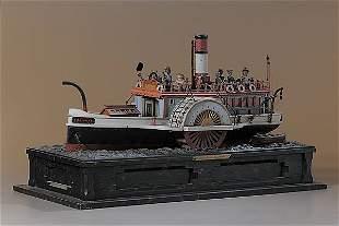 Folk Art Paddle Wheel Model,