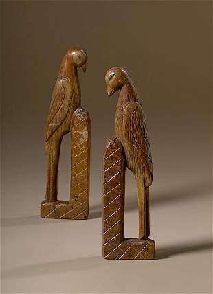 Folky Carved Birds,
