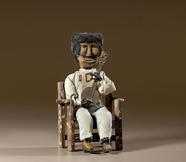 5: Southern Folk Art Figure of Black Banjo Player ,