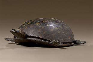 Folk Art Carved and Painted Turtle,