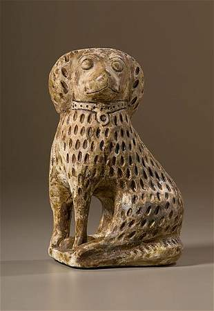 Stoneware Spaniel Attributed to George Bagnall,