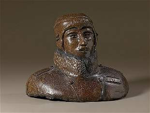 Sewer Tile WWI Aviator Bust,