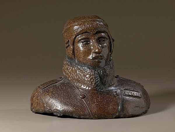 11: Sewer Tile WWI Aviator Bust,
