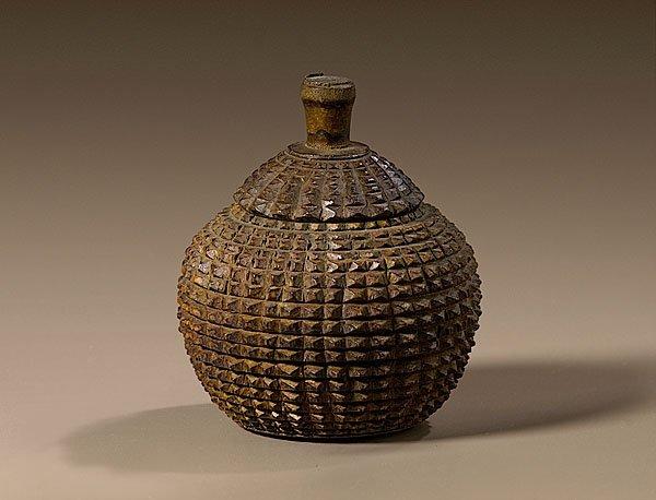 14: Rare Tramp Art Sugar Bowl with Lid,