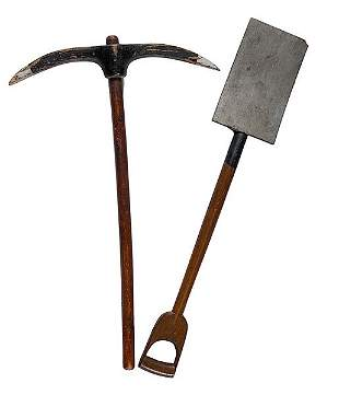 Odd Fellows Pick Axe and Shovel Emblems,