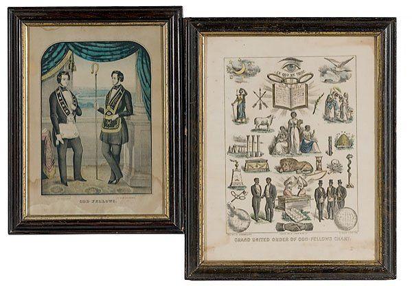 31: Odd Fellows Currier & Kellogg Prints,