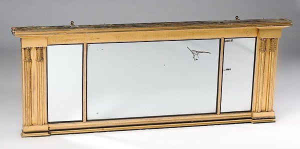 109: Classical Gilt Overmantel Mirror,