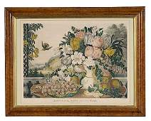 110 Large Folio Currier and Ives Landscape Fruit and