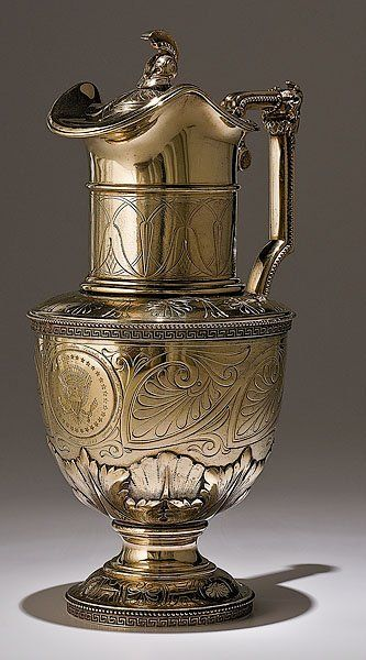 Tiffany Sterling Ewer Presented to Abraham Lincoln