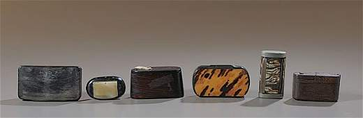 293: Folk Art and Horn Snuff Boxes,