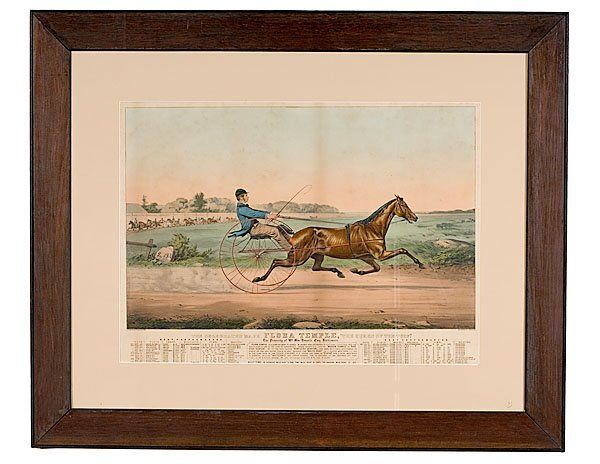 "440: Large Folio Currier & Ives Lithograph, ""The Celebr"