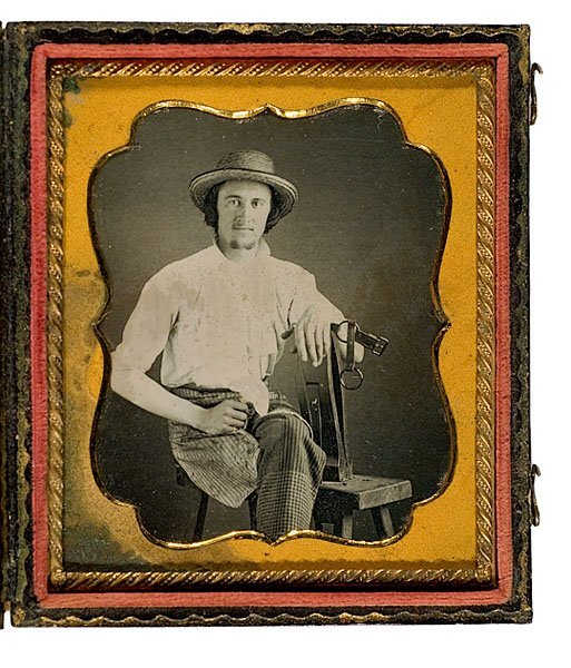 2: Daguerreotype of a Harness Maker at His Bench Clamp,