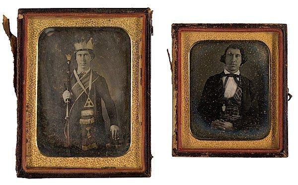 6: Man in Fraternal Garb, Quarter Plate Daguerreotype,