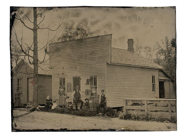 8: Full Plate Tintype of an Ohio Town,