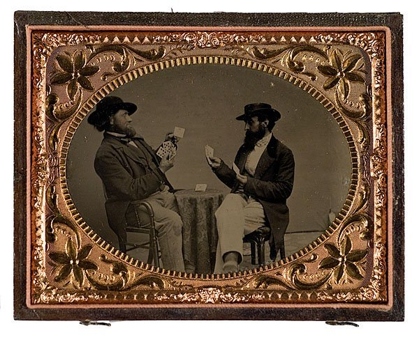 9: Tintype of Two Gentlemen Playing Poker,