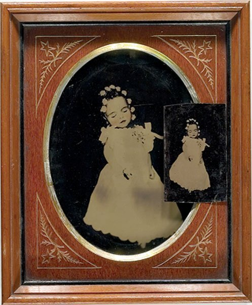11: Large Post Mortem Tintype of a Young Girl, Plus,