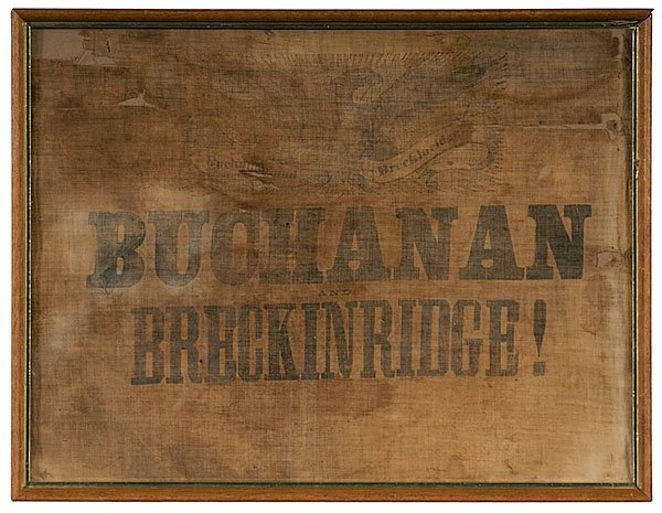 15: Buchanan and Breckinridge Political Textile,
