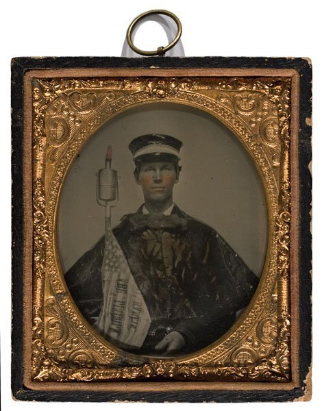 16: Ambrotype of an Abraham Lincoln Wide Awake Marcher,
