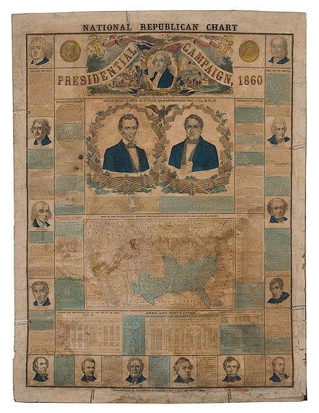 19: Lincoln-Hamlin 1860 Presidential Campaign Chart,