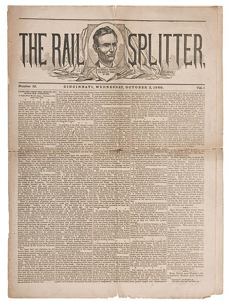 20: The Rail Splitter, Vol. 1, No. 10 of Oct. 3, 1860,