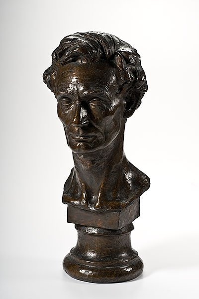 22: Paul Morris (1865-1916) Bust of Abraham Lincoln Cas