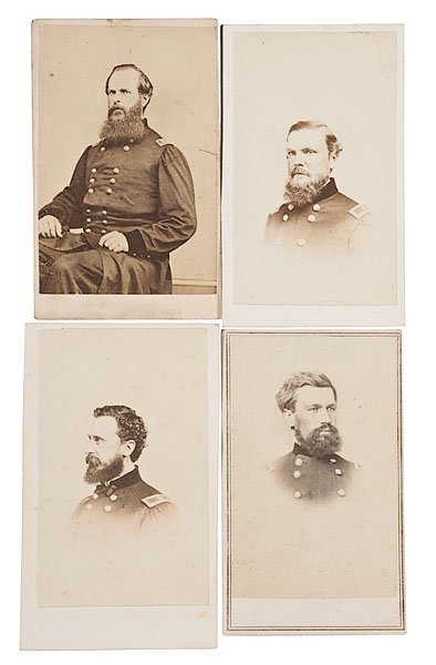 152: Four CDVs of Gettysburg Generals,