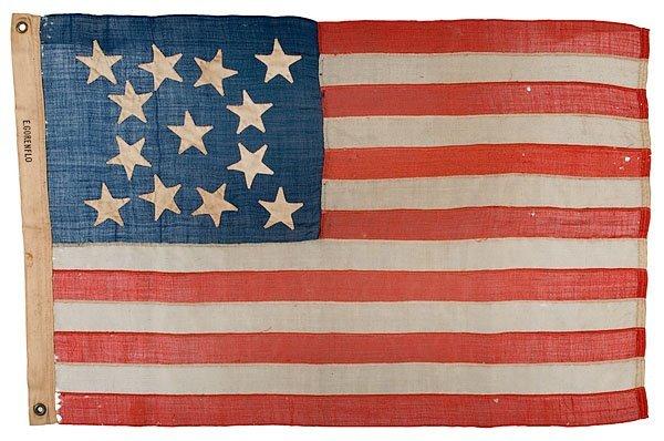 249: Civil War Patriotic 13-Star Flag,
