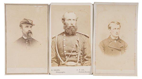 265: Three CDVs of Post-War Identified Officers,