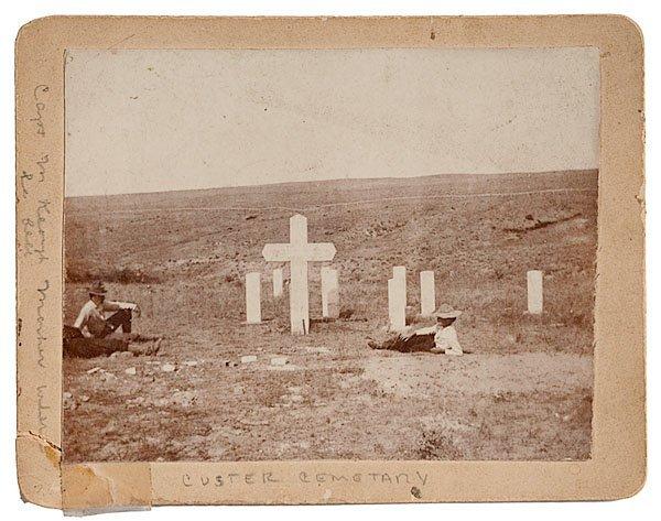 768: Three Custer Battlefield Photographs, One Autograp