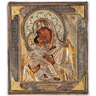 A Russian Icon of Madonna and Child