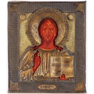 A Russian Icon of Christ Pantocrator