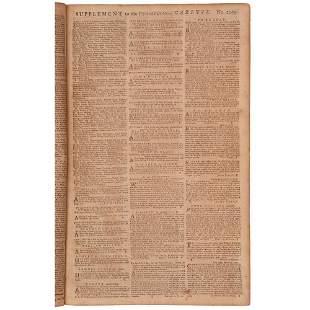 [SLAVERY & ABOLITION]. The Pennsylvania Gazette. No.