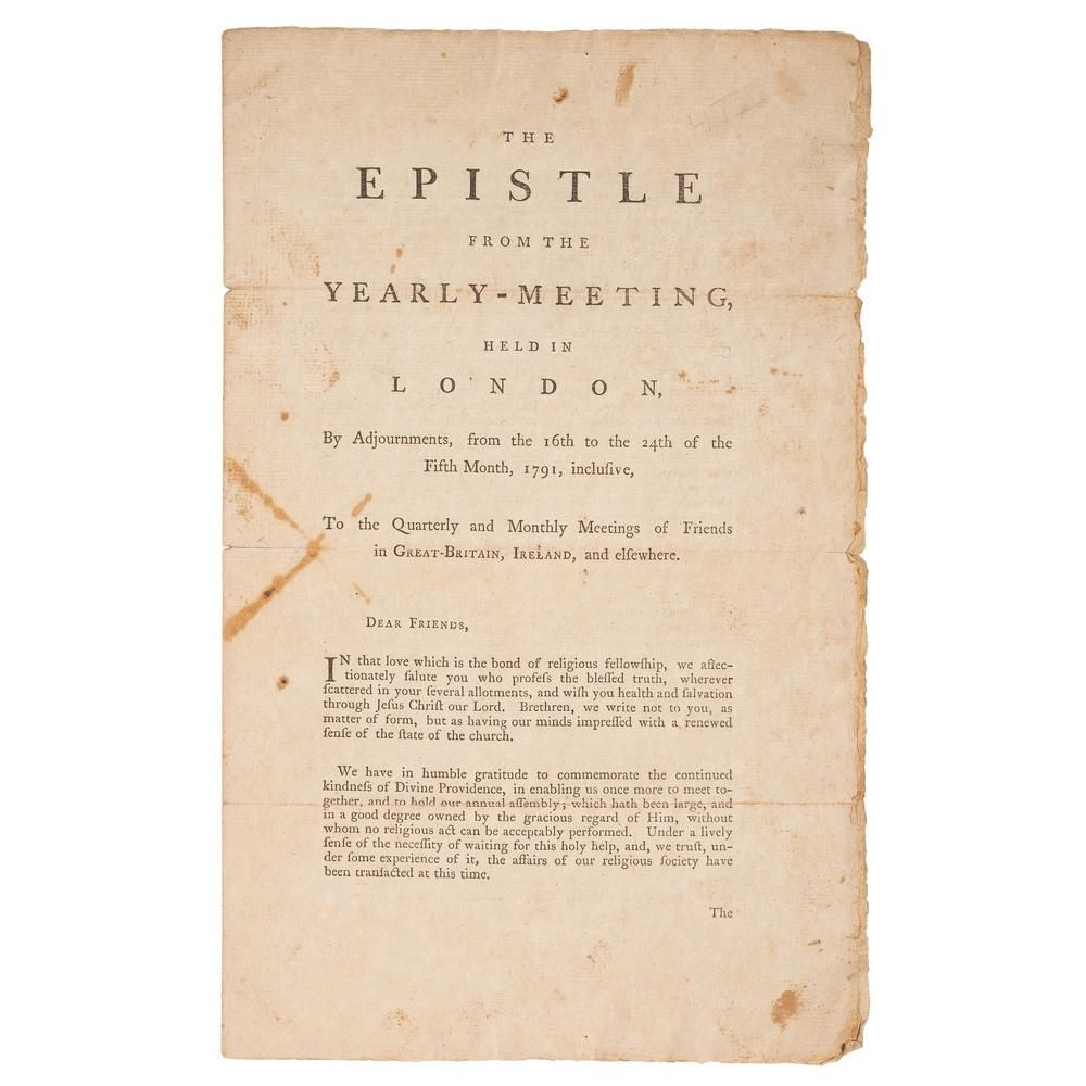 [SLAVERY & ABOLITION].The Epistle from the