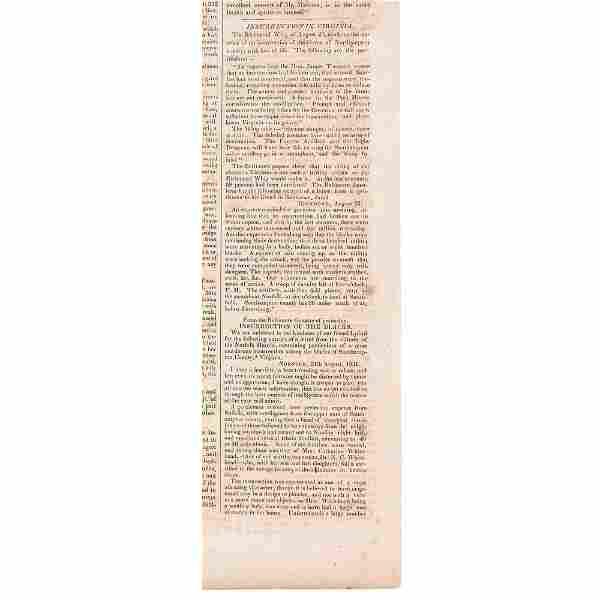 [SLAVERY & ABOLITION] -- [TURNER, Nat (1800-1831)].