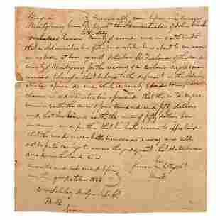 [SLAVERY & ABOLITION]. Manuscript court document