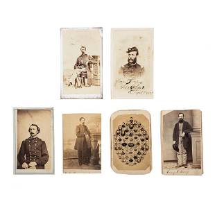 [CIVIL WAR]. A group of 6 CDVs of US Colored Troop