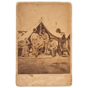 [CIVIL WAR]. Albumen photograph of Private George W.