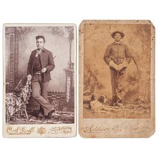 [BUFFALO SOLDIERS]. Cabinet cards of 10th US Cavalry