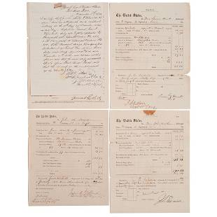 [BUFFALO SOLDIERS]. Group of 5 documents associated