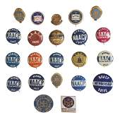 [CIVIL RIGHTS]. A group of badges and pinbacks related