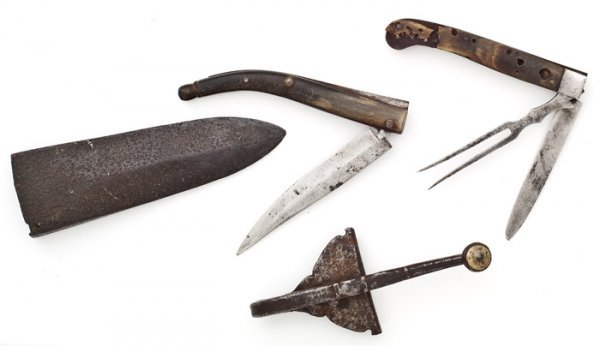 1: Two 18th Century Knives And French And Indian War Ha