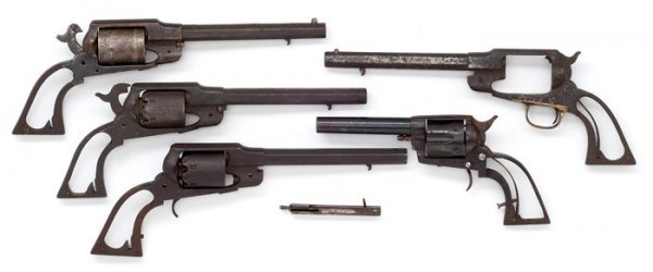 4: Lot of Five Revolver Parts,