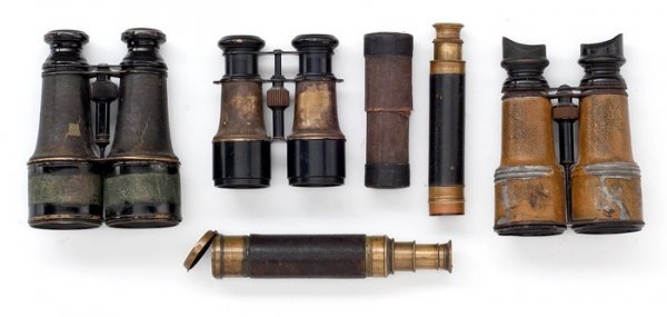 12: Lot of Three Field Glasses and Two Telescopes,