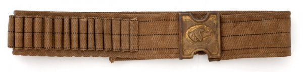20: Mills Cartridge Belt with Dog's Head Buckle,