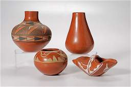 303: Grouping of Pueblo Redware Pottery